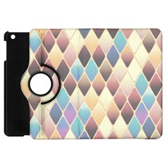 Abstract Colorful Background Tile Apple Ipad Mini Flip 360 Case