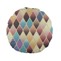 Abstract Colorful Background Tile Standard 15  Premium Round Cushions