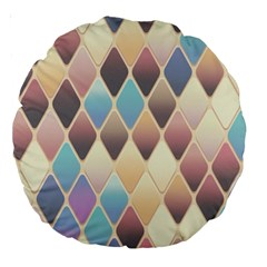 Abstract Colorful Background Tile Large 18  Premium Round Cushions