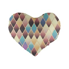 Abstract Colorful Background Tile Standard 16  Premium Heart Shape Cushions