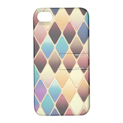Abstract Colorful Background Tile Apple Iphone 4/4s Hardshell Case With Stand