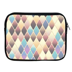 Abstract Colorful Background Tile Apple Ipad 2/3/4 Zipper Cases