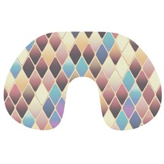 Abstract Colorful Background Tile Travel Neck Pillows