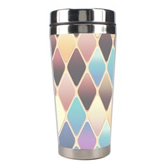 Abstract Colorful Background Tile Stainless Steel Travel Tumblers