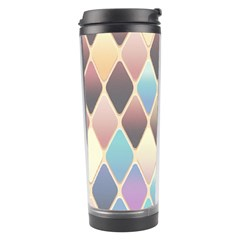 Abstract Colorful Background Tile Travel Tumbler