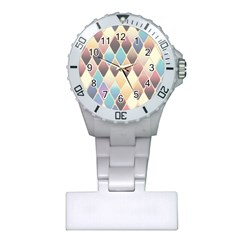 Abstract Colorful Background Tile Plastic Nurses Watch