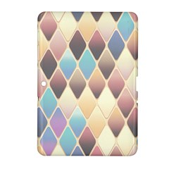 Abstract Colorful Background Tile Samsung Galaxy Tab 2 (10 1 ) P5100 Hardshell Case