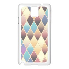 Abstract Colorful Background Tile Samsung Galaxy Note 3 N9005 Case (white)