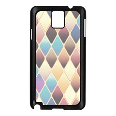Abstract Colorful Background Tile Samsung Galaxy Note 3 N9005 Case (black)