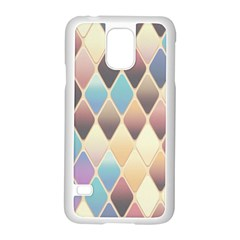 Abstract Colorful Background Tile Samsung Galaxy S5 Case (white)