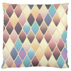 Abstract Colorful Background Tile Large Flano Cushion Case (one Side)