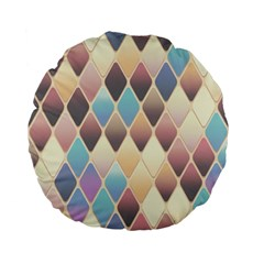 Abstract Colorful Background Tile Standard 15  Premium Flano Round Cushions