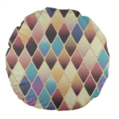 Abstract Colorful Background Tile Large 18  Premium Flano Round Cushions