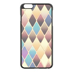 Abstract Colorful Background Tile Apple Iphone 6 Plus/6s Plus Black Enamel Case