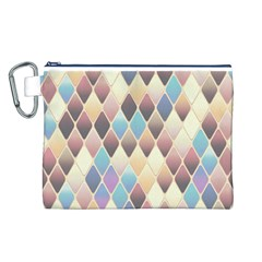 Abstract Colorful Background Tile Canvas Cosmetic Bag (l)
