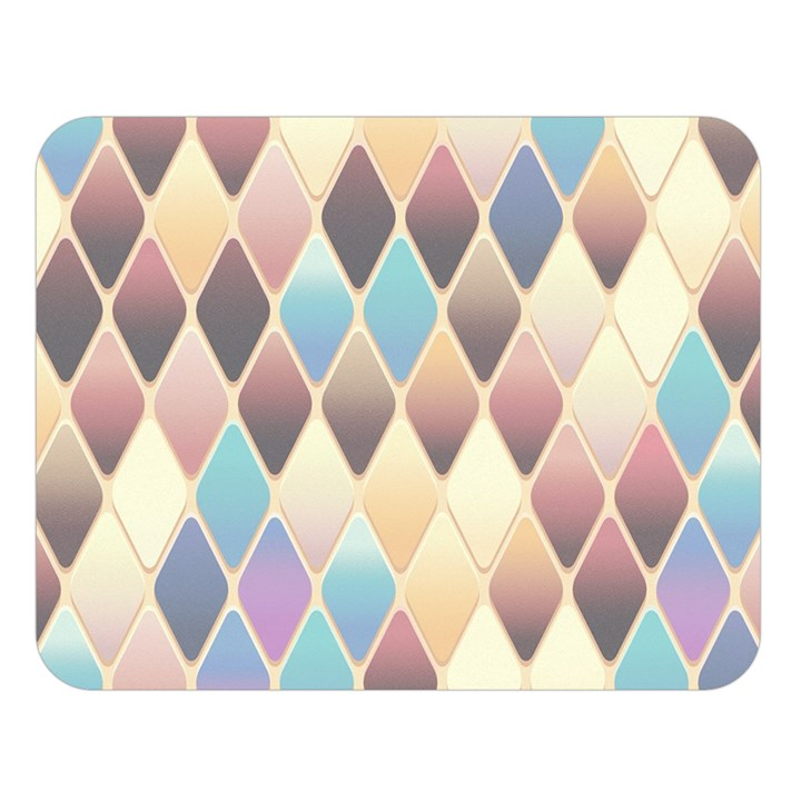 Abstract Colorful Background Tile Double Sided Flano Blanket (Large)