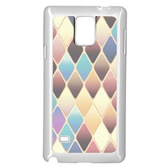 Abstract Colorful Background Tile Samsung Galaxy Note 4 Case (white)