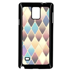 Abstract Colorful Background Tile Samsung Galaxy Note 4 Case (Black)