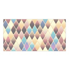 Abstract Colorful Background Tile Satin Shawl