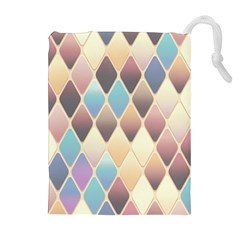 Abstract Colorful Background Tile Drawstring Pouches (extra Large)