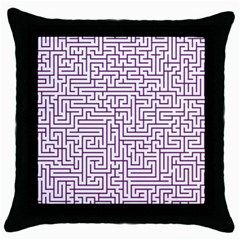 Maze Lost Confusing Puzzle Throw Pillow Case (Black)