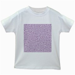 Maze Lost Confusing Puzzle Kids White T-Shirts
