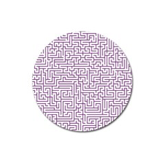 Maze Lost Confusing Puzzle Magnet 3  (round)