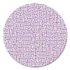 Maze Lost Confusing Puzzle Magnet 5  (round)