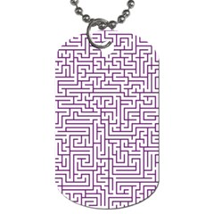 Maze Lost Confusing Puzzle Dog Tag (two Sides)