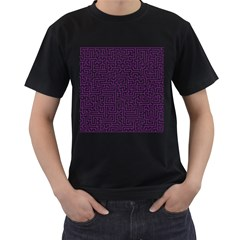 Maze Lost Confusing Puzzle Men s T Shirt (black) (two Sided)