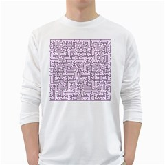 Maze Lost Confusing Puzzle White Long Sleeve T Shirts