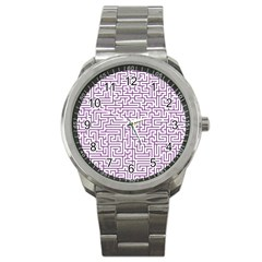 Maze Lost Confusing Puzzle Sport Metal Watch