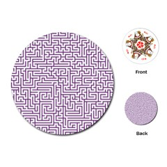 Maze Lost Confusing Puzzle Playing Cards (round)