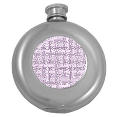 Maze Lost Confusing Puzzle Round Hip Flask (5 Oz)