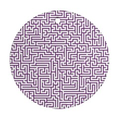 Maze Lost Confusing Puzzle Round Ornament (two Sides)