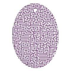 Maze Lost Confusing Puzzle Oval Ornament (Two Sides)