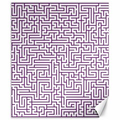 Maze Lost Confusing Puzzle Canvas 8  x 10