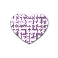 Maze Lost Confusing Puzzle Rubber Coaster (heart)
