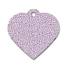Maze Lost Confusing Puzzle Dog Tag Heart (two Sides)