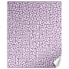 Maze Lost Confusing Puzzle Canvas 11  X 14