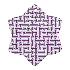 Maze Lost Confusing Puzzle Snowflake Ornament (2 Side)