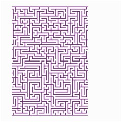 Maze Lost Confusing Puzzle Small Garden Flag (two Sides)