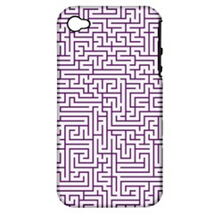 Maze Lost Confusing Puzzle Apple Iphone 4/4s Hardshell Case (pc+silicone)