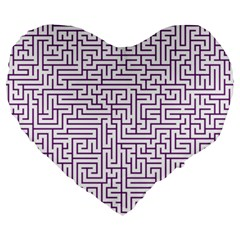 Maze Lost Confusing Puzzle Large 19  Premium Heart Shape Cushions