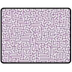 Maze Lost Confusing Puzzle Double Sided Fleece Blanket (medium)