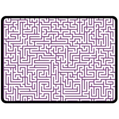 Maze Lost Confusing Puzzle Double Sided Fleece Blanket (large)