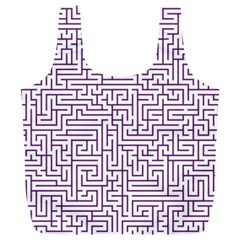 Maze Lost Confusing Puzzle Full Print Recycle Bags (l)