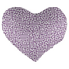 Maze Lost Confusing Puzzle Large 19  Premium Flano Heart Shape Cushions