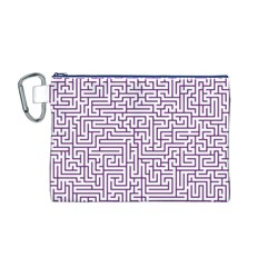 Maze Lost Confusing Puzzle Canvas Cosmetic Bag (M)