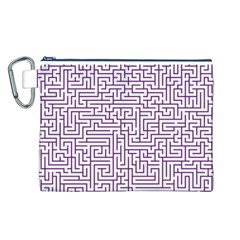 Maze Lost Confusing Puzzle Canvas Cosmetic Bag (L)